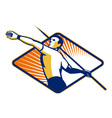 Track and Field Athlete Javelin Throw Retro vector image