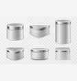 transparent glass jars with metal lids vector image vector image