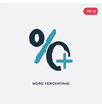 two color more percentage plus button icon from vector image vector image