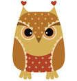 unny cartoon owl vector image vector image