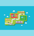 urban planing in flat style vector image vector image