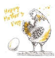Vintage design with hen and egg Happy Mother day vector image vector image