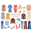 women clothes collection spring outfit vector image vector image