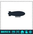 Airship zeppelin icon flat vector image