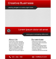 Business multipurpose flyer template - red vector image