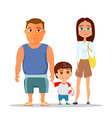 Happy family dad mom and son vector image