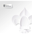 Origami lily on a white background vector image