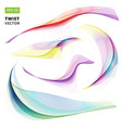 abstract colorful wave twist spiral set on white vector image vector image