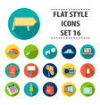 advertising set icons in flat style big vector image vector image