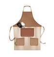 apron realistic object vector image vector image