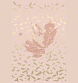 autumn foliage rose gold blush background vector image vector image