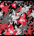 beautiful floral seamless pattern with lovers vector image vector image