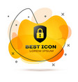 black shield security with lock icon isolated on vector image vector image