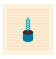 blue plant in blue pot on white background vector image vector image