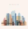 brooklyn new york skyline detailed silhouette vector image vector image