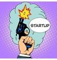 business concept startup starting pistol vector image