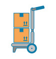 Cart with boxes delivery service