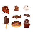 chocholate confectionary set vector image vector image