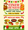 cinco de mayo mexican fiesta party invitation vector image vector image