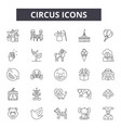 circus line icons for web and mobile design vector image vector image