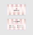 clean business card template cream and white color vector image vector image
