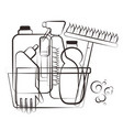 cleanind supplies silhouette vector image vector image