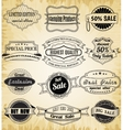 Collection of old vintage label for design vector image vector image