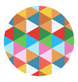 colored geometric circle vector image vector image