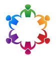 colorful people partnership teamwork logo vector image