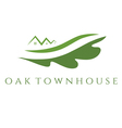 concept of oak townhouse vector image vector image