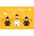 Creative enlightenment Business guru creative vector image