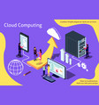 creative isometric cloud computing vector image vector image