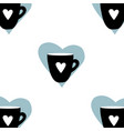cups mug pattern seamless tile background heart vector image vector image