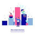 data analytics flat composition vector image vector image