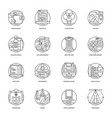 design and development glyph icons vector image vector image