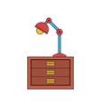 desk lamp icon vector image vector image
