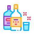 drink bottle cup icon outline vector image