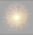 explosion of a golden star with a glare vector image vector image