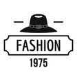 fashion hat logo simple black style vector image vector image
