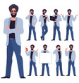 flat design young man characters vector image vector image