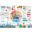 flat public transport infographic concept vector image vector image