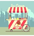 gelato ice cream cart vector image