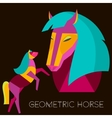 Geometric horse Abstract horse set in flat style vector image