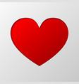 heart cut from paper vector image vector image