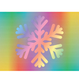 hologram with snowflake vector image vector image