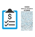 Invoice Pad Icon with 1000 Medical Business Icons vector image vector image
