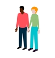 Isometric international couple vector image