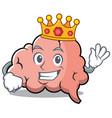 king brain character cartoon mascot vector image vector image