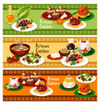 korean cuisine banner for restaurant menu design vector image vector image