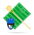 lacrosse field vector image vector image